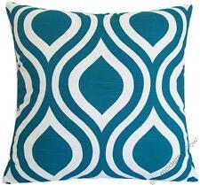 """Deep aqua blue thistle decorative throw pillow cover/cushion cover 20x20"""""""