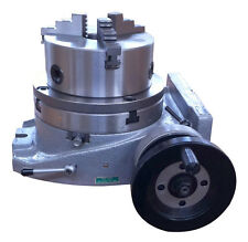 "The adapter and 3 jaw chuck for mounting on a 8"" rotary table"