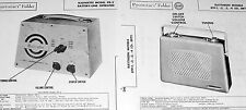 2 Service Photofacts for RAYTHEON 8TP-1 -2 -3 -4 8RT1 & RADIOETTE PR-2 Receivers
