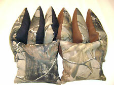 Realtree Camo Black Brown Cornhole Bean Bags 8 Tailgate Toss Game Baggo
