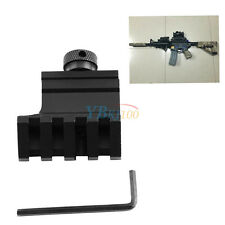 Hunting 45 Degree Offset 20mm Weaver Picatinny Side Scope Rail Mount Black