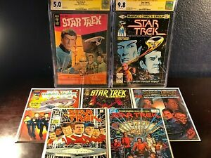STAR TREK #1 Lot GOLD KEY 1967 1st CGC SS Signed William Shatner 1980 9.8 NM+ VF