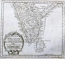 Antique map, Suite de la carte de L'Inde en deca du Gange