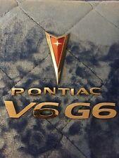 05 06 07 08 09 10 PONTIAC G6 V6 REAR LID GATE EMBLEM LOGO BADGE SIGN SYMBOL SET