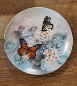 Lena Lui Monarch Butterflies Plate W.L. George Fine China