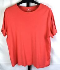 Jones New York Sport Coral Short Sleeve 100% Cotton Tee Plus Size 2X