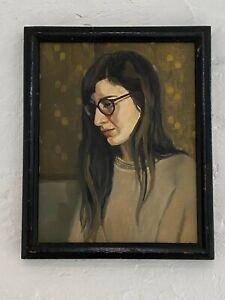 Bridgette Mc Nab, portrait, Girl with Glasses, Oil on Linen, Award Winner