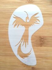 Face painting stencil reusable washable phoenix face and cheek c.11cms x 7 cms