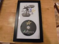 DEFTONES Live Autographed CD Display Original Band - FRAMED & MATTED