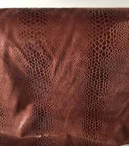 Copper Brown snake skin soft vinyl upholstery, drapery, clothing, home decor