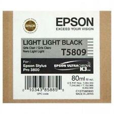 ORIGINALE Epson t5809 INCHIOSTRO LIGHT LIGHT BLACK PER STYLUS PRO 3800 3880 2014 OVP