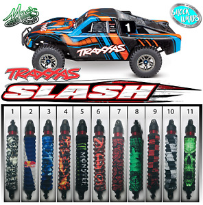 *FITS* Traxxas 1/10 Slash RC Shock Wraps - boots - covers - sox Vol. 1