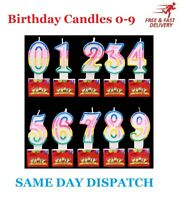 Colourful Decoration Numbers Happy Birthday Cake Candles Party  0 To 9