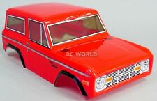 Rc Truck BODY SHELL 1/10 FORD BRONCO 252mm For Tamiya CC01 -RED- FINISHED