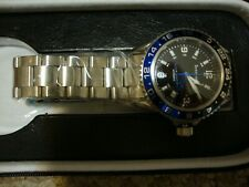 Date Automatic Diver Watch Bernhardt Globemaster Ii Gmt with