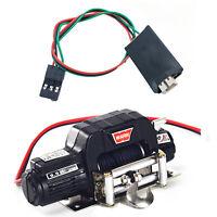 Metall Elektrische Winde mit 4CH Controller für 1/10 SCX10 D90 D110 TF2TRX4 KM2