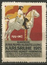 Germany/Karlsruhe 1915 Baden Jubilee Trade Fair poster stamp/label