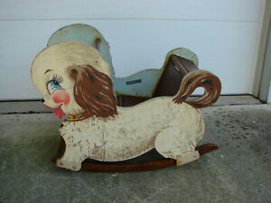 """Rare 1943 Wartime Lionel D-2 Playthings Lion-Eds """"Bowser The Wooden Dog Rocker"""""""