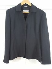 MAX MARA sz 16 (or 12 us ) womens Black Stitch Stripe Blazer Jacket [#527]
