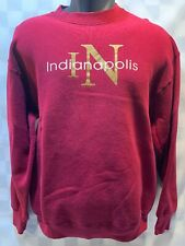 INDIANAPOLIS Indiana Red Sweat Shirt Men's Size L