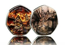 Brand New THE GREAT FIRE OF LONDON 1666 Full Colour Silver Commemorative