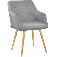 Chaise de design siège de bureau salon retro chef salle a manger rembourré gris