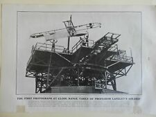 Samuel Langley's Air-Ship Early Flight Aeronautics Failed Flights 1903 old print