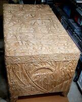 Hawaiian / Eastern Indian storage cedar hope chest - beautiful!