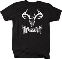 Tagout Deer Hunting Antlers Skull T Shirt