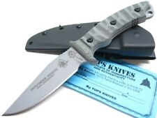 TOPS Rocky Mountain Tread Micarta PATHFINDER SCHOOL Fixed Knife + Sheath! PFS-01