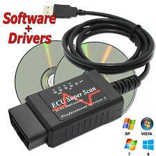 Viven los datos OBD2 Can Bus Auto Escáner OBDII OBD Cable Usb