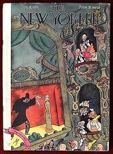 The New Yorker Magazine ~ October 13, 1928 ~ De Miskey Magician Hypnotizing