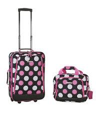 Rockland F102-MULPINKDOT 2 Pc Luggage Set - Multi Pink Dot NEW