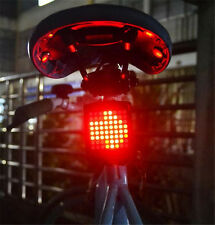 Bicycle Rear Tail Laser LED Indicator Turn Signal Light Wireless Remote USB ep