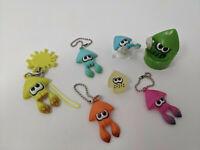 Nintendo Splatoon 2 Inkling Squid LOT Keychain Figures Tomy Toy Japan