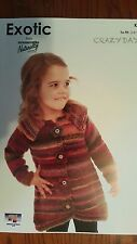 Naturally Knitting Pattern #K749 Toddlers Coat to Knit in Crazy Days Yarn 12 Ply