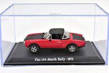 FIAT SCALA 1/43 124 AUTO MODELLINI DIECAST MINIATURE CAR MODEL ABARTH RALLY NEU