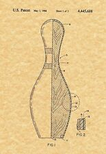 Patent Print - Bowling Pin - Art Print. Ready To Be Framed!