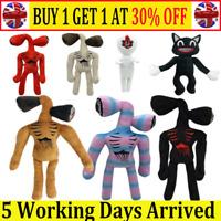 Cartoon Siren Head Horror Black Cat Plush Stuffed Doll Kids Birthday Gift Toy AT