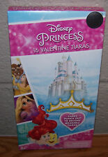 Valentines Day Cards (Box of 16) Disney Princess 16 Valentine Tiaras