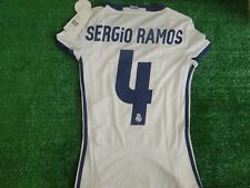 ** SERGIO RAMOS ** WOMENS HOME REAL MADRID SHIRT 2016-17 BNWT SIZE XSMALL