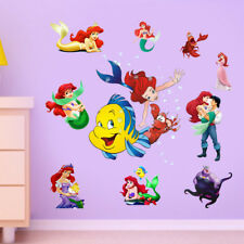 Little Mermaid Princess Wall Stickers Decal Wallpaper Mural Decor Children Room