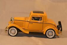 Yellow Ford 3 Window Coupe Metal Die Cast Car