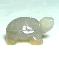 Gemstone Tortoise Hand Carved Ornament Jasper Rose Quartz Agate Amethyst Kambaba