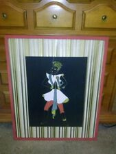 """Original Water Color """"Nubian Posture Dancer"""" Styled and Framed For Boutell's, Mn"""