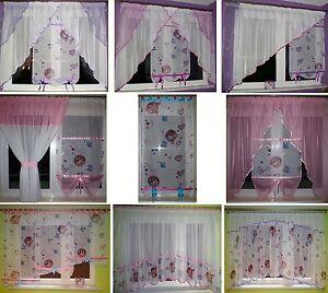 DISNEY VIOLETTA Gardine für Mädchen Kinderzimmer Schlaufen rosa lila violett NEU