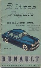 Renault 2 litre Fregate 1954/55 Original Handbook In English Type R1 100