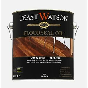 Feast Watson TIMBER FLOORSEAL Oil Based Hardened Tung Oil Finish Satin 1L or 4L