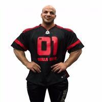 Gorilla Wear Athlete T-Shirt Big Ramy Black/Red Bodybuilding Fitness M-4XL