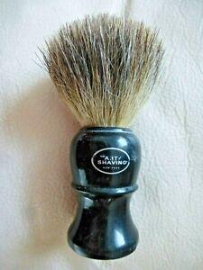 The Art Of Shaving Pure Badger Hair Brush Black Handle GOOD COND